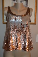 STUNNING SEAN COLLECTION SEQUIN COCKTAIL TANK BLOUSE, sz small