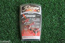 3X Red Rear Deploying Broadheads 2-Blade 2.3'' Cut 100 Gr Hunting Arrowhead Tips