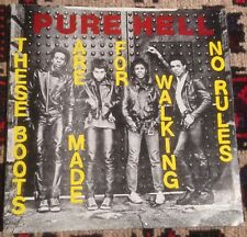 PURE HELL these boots are made for walking*no rules '78 UK GOLDEN SPHINX PUNK 45