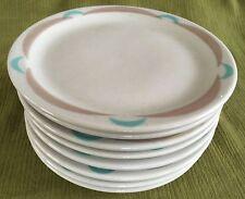 "SET (8) Shenango Lawrence Ware Restaurantware Art Deco 7-3/8"" SALAD PLATES"