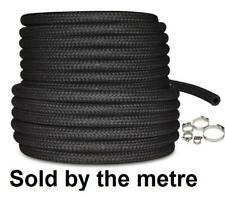 """Van Jeep 10mm 3/8"""" Fuel Braided Hose High Temperature Diesel Injection + Clips"""