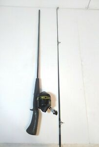 VINTAGE MADE IN USA ZEBCO #4079 S 5' MED.  ACTION TWO-PIECE ROD W/ZEBCO 101 REEL
