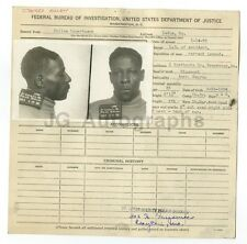 Police Booking Sheet - James Allen - L.S. of Accident - St. Louis, MO - 1938