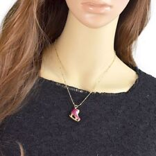 Chain Long Jewelry Hotpink Pendant For Women Ice Skate Shoes Necklace Cute