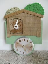 Handmade wooden clock 'In the Doghouse'