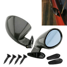 Glossy Carbon Fiber Look F1 Style Side Wing Rearview Mirror Fit For Car Truck