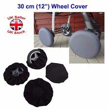"Wheels Cover For Buggy Pushchair Pram Wheel Size 30 cm (12"") Black"