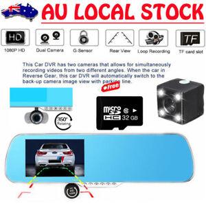 32GB 5.0'' 1080P Rear View Mirror Camera Monitor Car Parking Dash Cam Kits W940