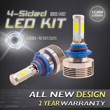 120W 12000LM LED 360 4-Sided Kit 6000K Headlight High Beam Bulbs - 9005 HB3