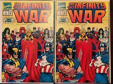 The Infinity War #1 Comic Gauntlet Thanos Warlock Marvel (2 COPIES)