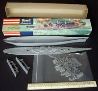 c1953 Revell H-301 Battleship USS Missouri 1st Issue in Narrow Box. Not Complete