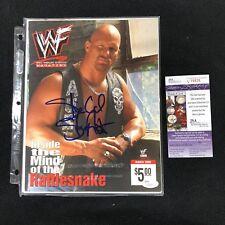 STONE COLD STEVE AUSTIN SIGNED WWE MAGAZINE JSA COA MARCH 2000