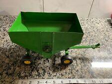 Vintage Ertl Metal Gravity Feed Grain Hopper Wagon Farm Equipment Toy Green