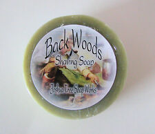 BackWoods Cedar Wood, Handmade Shaving Soap with Goat's Milk, 3 inch Round Puck