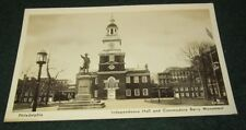 INDEPENDENCE HALL AND COMMODORE BARRY MONUMENT PHILADELPHIA POSTCARD