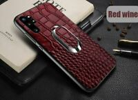 Genuine Leather Samsung Galaxy Note10 Note 10Plus Case Full Grain Ring Cover