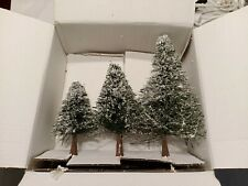 Artificial Trees Lot of 3 Snow Covered Trees - Christmas Village.