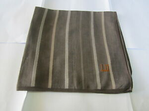 """USED BROWN STRIPED PATTERN COTTON 18""""POCKET SQUARE HANDKERCHIEF HANKY FOR MEN"""