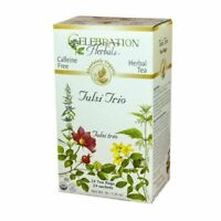 Organic Tulsi Trio Tea 24 Bags  by Celebration Herbals