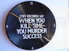 STIFF RECORDS vinyl LP promo clock + letter 1977