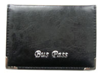 Lorenz Bus Pass Cover Holder Leather Effect Grained PU with zip up coin pocket