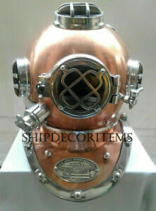 Vintage diving divers helmet ~ Deep Sea Scuba Mark V Navy Antique Diving Helmet