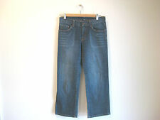 Size 8 Witchery Designer Blue Cut off designer denim jeans