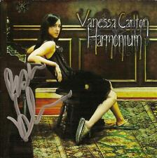 Vanessa Carlton Harmonium SIGNED CD Cover NO CD COA