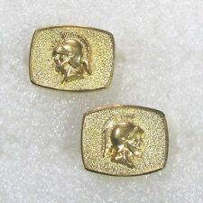 BB STERLING silver vermeil cuff links, warrior vintage/signed   B47