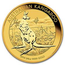 2014 Australia 1/4 oz Gold Kangaroo BU - SKU #78072