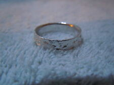 NEW PURE SILVER .999 BULLION SZ61/2 WOMAN RING MADE BY ANARCHY P.M. JEWELRY #E22
