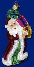 BOXES OF JOY SANTA CLAUS OLD WORLD CHRISTMAS GLASS SANTA W/ GIFTS ORNAMENT 40226