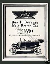FORD - 1914 MODEL T TOURING - Vintage Ad Fridge Magnet