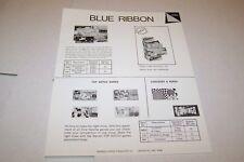 Vintage WARREN PAPER PRODUCTS - BLUE RIBBON GAMES ad sheet #0224