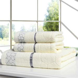 Towel Set Bath Vintage Hands Washcloth Cotton Soft Beach Women Man High Quality