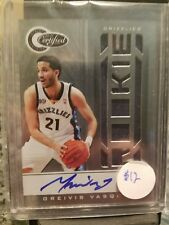 Greivis Vasquez AUTO Totally Certified 10-11 /599 2011 Card 157 Rookie RC Jersey
