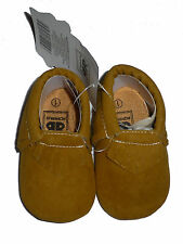 NEW Romirus Baby Boys Suede Tan Beige Tassel Fringe Moccasin Crib Shoes Size 1