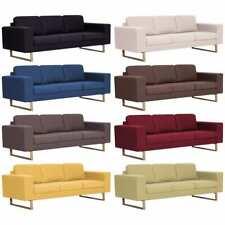 vidaXL Sofa 3er Stoff Polstersofa Couch Loungesofa Sitzmöbel mehrere Auswahl