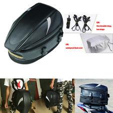 Multipurpose Waterproof Motorcycle Rear Sport Back Seat Bag Car Tail Bags Black