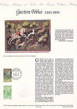 Document philatélique 27-91 1er jour 1991 Gaston Fébus Le livre de la Chasse