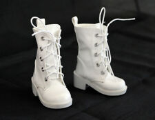 1/4 bjd Myou Kate Wiggs msd boy doll white combat boots shoes dollfie S-128M