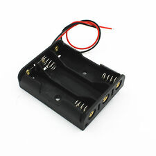 1pcs Plastic Battery Case Box Holder with Wire Lead for 3XAA 3*AA 4.5V