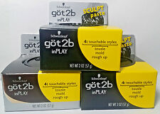 3 Got2b Schwarzkopf In Play Sculpt Paste Hair Touchable Styles 2 oz each