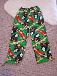 Bob Marley XL Rasta Pants No Woman No Cry Bright Multi Colour Unisex Long Pants