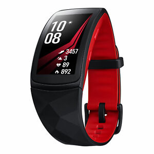 Samsung Gear Fit2 Pro (Small) Black AluminumCase with Red Sport READ DESCRIPTION
