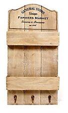 NUOVO Rustico Vintage General Store Scaffale parete Unità & Ganci chiavi/LETTERE Rack