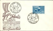 BRAZIL 1956 TABLE TENIS; PING-PONG. Children Games  cancel on FM FDC 1956 stamp