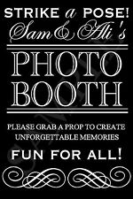 Photo Booth JPEG FILE SIGN Wedding Engagement Birthday Props Black White U PRINT