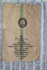"""WO Standard Arabica Green Coffee Burlap Coffee Sack Large 43"""" x 29"""""""
