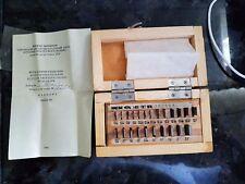 mm 43pcs Class1 USSR Top Grade 0.3-0.9 Precision Metric Slip Gauge Block Set №11